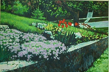 "marshfield clinics artist calendar ""Creepimg Phlox & Rocks"" - may 2003"